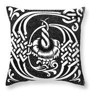 Decorative Initial G Throw Pillow