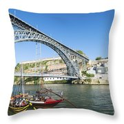 Dom Luis Bridge Porto Portugal Throw Pillow