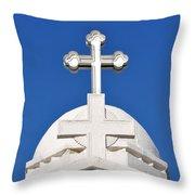 Dome Of Agios Georgios Chapel Throw Pillow