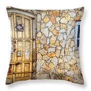 Doors Of Tel Aviv Throw Pillow