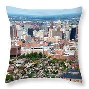 Downtown Baltimore Throw Pillow