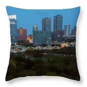Downtown Fort Worth Texas Throw Pillow