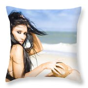 Dream Holiday Throw Pillow