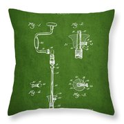 Drill Pounder Patent Drawing From 1922 Throw Pillow