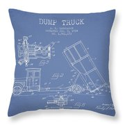 Dump Truck Patent Drawing From 1934 Throw Pillow