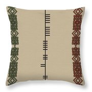 Dunne Written In Ogham Throw Pillow