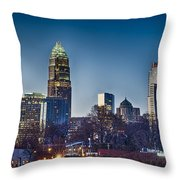 Early Morning In Charlotte Nc Throw Pillow