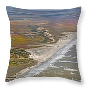 East Coast Aerial Near Jekyll Island Throw Pillow