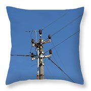 Electric Pylon Throw Pillow