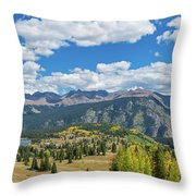 Elevated View Of Trees On Landscape Throw Pillow