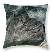 Eroded Marble Shoreline Throw Pillow