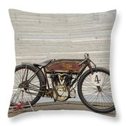 Excelsior Board Track Racer II Throw Pillow