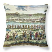 Flagellants Middle Ages Throw Pillow