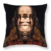 Flipped Ben 2 Throw Pillow