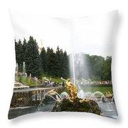 Fountain In Petergof Throw Pillow