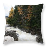 Franconia Notch White Mountians Throw Pillow