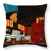 Fremont Street Experience Las Vegas Nv Throw Pillow