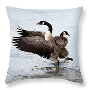 Geese Throw Pillow
