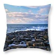 Giant's Causeway Coast Throw Pillow