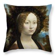 Ginevra De' Benci Throw Pillow