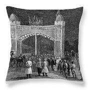 Golden Jubilee, 1887 Throw Pillow