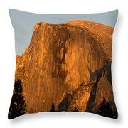 Half Dome, Yosemite Np Throw Pillow