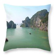 Halong Bay In Vietnam Throw Pillow