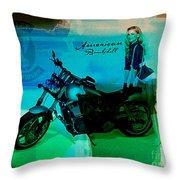 Harley Davidson Ad Throw Pillow