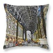 Hays Galleria London Sketch Throw Pillow