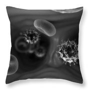Hiv Infection Throw Pillow