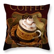 Cappuchino With Choclates Throw Pillow