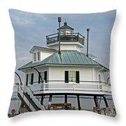 Hooper Straight Lighthouse Throw Pillow