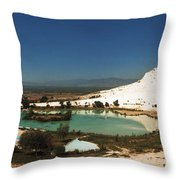 Hot Springs And Travertine Pool Throw Pillow