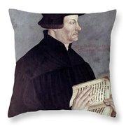 Huldreich Zwingli (1484-1531) Throw Pillow