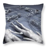 Human Cloning Throw Pillow