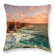 Icelandic Coast Throw Pillow