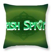 Irish Spirit Throw Pillow