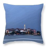 Isola Dei Pescatori Throw Pillow