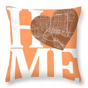 Jacksonville Street Map Home Heart - Jacksonville Florida Road M Throw Pillow