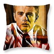 James Dean Throw Pillow
