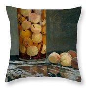 Jar Of Peaches Throw Pillow