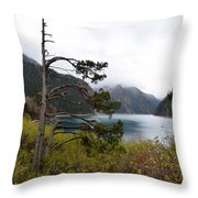 Jiu Zhai Valley Throw Pillow