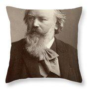 Johannes Brahms (1833-1897) Throw Pillow