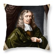 Johannes Hevelius, Polish Astronomer Throw Pillow by Science Source