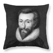 John Donne (1572-1631) Throw Pillow