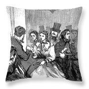 Johnson Impeachment, 1868 Throw Pillow