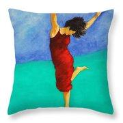 Jump Of Joy Throw Pillow