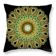 Kaleidoscope Ernst Haeckl Sea Life Series Throw Pillow
