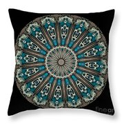 Kaleidoscope Steampunk Series Throw Pillow