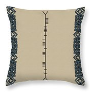Keane Written In Ogham Throw Pillow